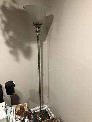 Tall golden floor lamp for Sale in Penndel, PA