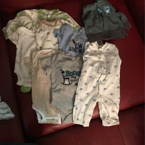 Baby Clithes Most Never Worn Sum Brand New Sizes Are New Born And 0-3 Months $5 An Out Fit $20 For All Newborn $30 For All 0-3 Or $50 For All Together for Sale in Aurora, CO