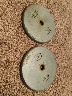 25 lb plates weights for Sale in San Antonio, TX
