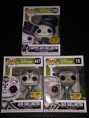 Funko Pop Jack Skellington Trio Hot Topic Exclusive for Sale in Stockton, CA