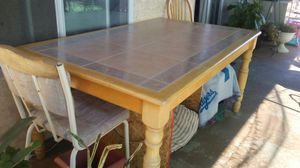 Kitchen table set with 4 chairs for Sale in Apple Valley, CA