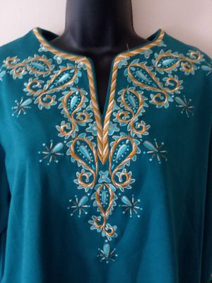 Bob Mackie - Silk tunic blouse for Sale in Adelphi, MD