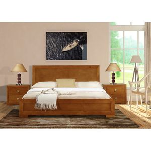 New queen oak wood bed frame for Sale in Portland, OR