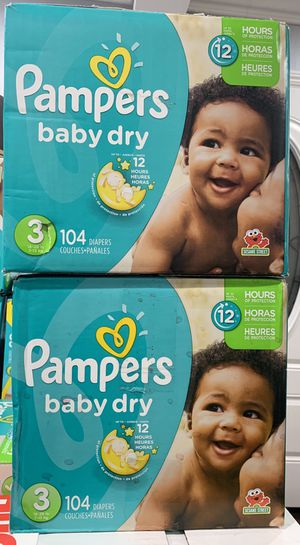 Pampers baby dry size 3 $20 per box for Sale in Long Beach, CA