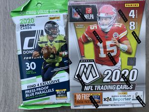 2020 Panini Mosaic NFL Trading Cards Blaster Box & 20-21 PANINI DONRUSS FOOTBALL FAT PACK for Sale in Sacramento, CA