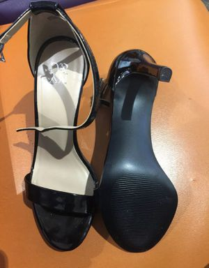 Black Patent Leather, Single Strap Open Toed Heels By New York & Co. for Sale in Clayton, NC