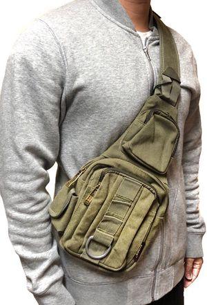 NEW! Canvas Shoulder bag, cross body bag pouch travel bag satchel gym bag Back sling Bag side strap bag tote bag backpack messenger bag for Sale in Long Beach, CA