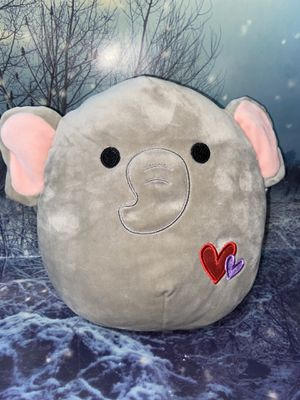 "squishmallow ethan elephant 12"" plush valentine's edition for Sale in Bellflower, CA"