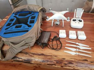 Phantom 4 pro with 3 batteries and backpack for Sale in Gilbert, AZ