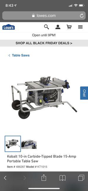"kobalt 10"" table saw for Sale in Las Vegas, NV"