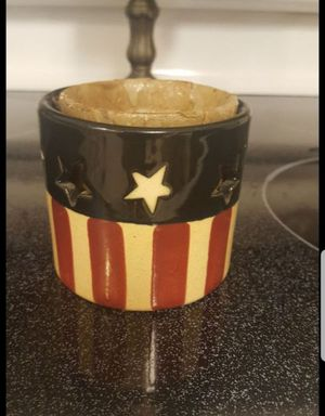 Patriotic Americana candle holder **4th of July for Sale in Midwest City, OK