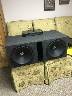 12inch polk audio subwoofers and amp for Sale in Hazel Park, MI