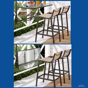 NEW!!! 3 Piece Bar Set with Folding Table, Outdoor Furniture, Patio Set for Sale in Phoenix, AZ
