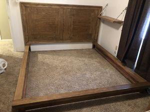 Wood bedroom furniture - CA King for Sale in Lorena, TX
