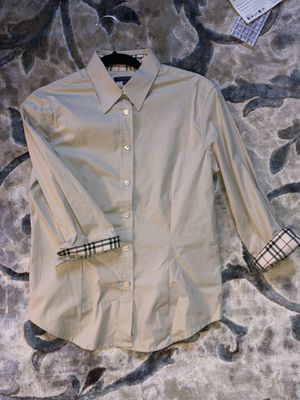 Burberry woman's button down shirt for Sale in Randolph, MA