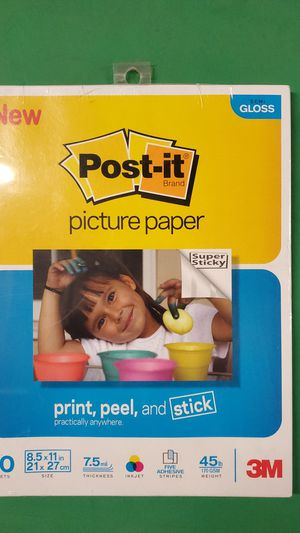 New 3M Post-It Adhesive Photo Paper (SP851120SG) for Sale in Carlsbad, CA