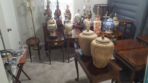Some historical and antique furniture and lamps picture for Sale in Conyers, GA