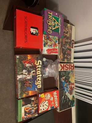 Board games. Cards. Poker chips. Puzzles. Risk. Clue. Stratego. Yahtzee. Tribond. Scattergories for Sale in Everett, WA