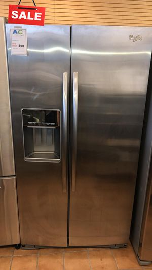 FIRST COME!!CONTACT TODAY! Refrigerator Fridge Whirlpool Side by Side #1487 for Sale in Silver Spring, MD