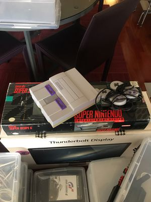 Super Nintendo, Super Scope, Mario, Sim City, Super Battletank, Super Return of the Jedi, Street Fighter for Sale in San Diego, CA