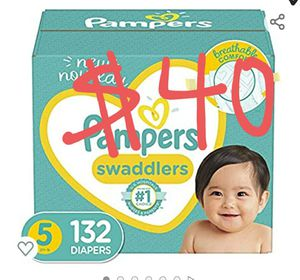 Pampers swaddlers size 5 diapers for Sale in Santa Ana, CA
