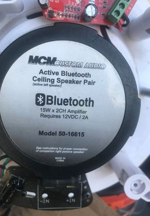 Wireless Bluetooth ceiling speakers installed into a 6 inch hole plug it in and connect for Sale in Pinellas Park, FL