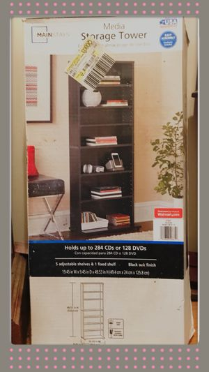 Mainstays CD / DVD Media Storage Tower for Sale in Angier, NC