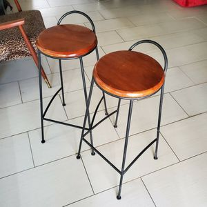Two Metal And Wood Bar Stools for Sale in Round Rock, TX