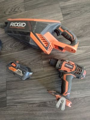 Ridgid vacuum And drill battery no charger for Sale in Phoenix, AZ