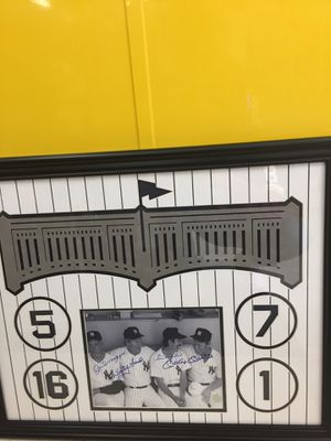 Authentic signed Yankees photo for Sale in Ashburn, VA
