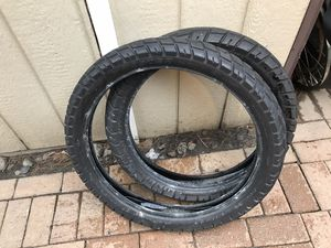 Street tires for any dirt bike 21 front and 19 back for Sale in Monroe Township, NJ