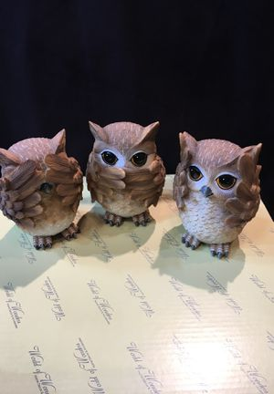 Owls sets of 3. Unique style for Sale in Westminster, CA