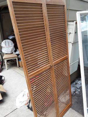 Folding eooden closet doors for Sale in Portland, OR
