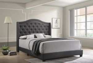 Queen size Upholstered bed frame. Available in different colors. $53 DOWN PAYMENT for Sale in Orlando, FL