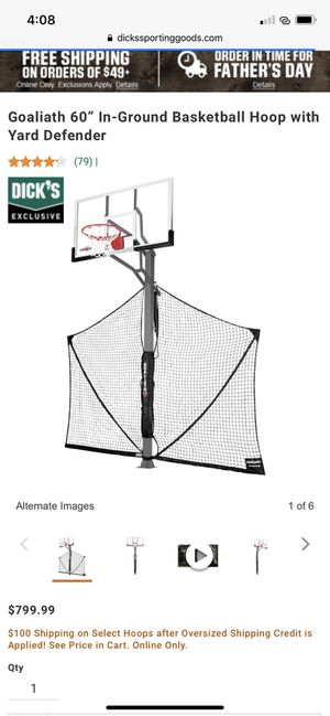 Basketball Hoop goaliath gb60 yg (60'') for Sale in Cambridge, MA