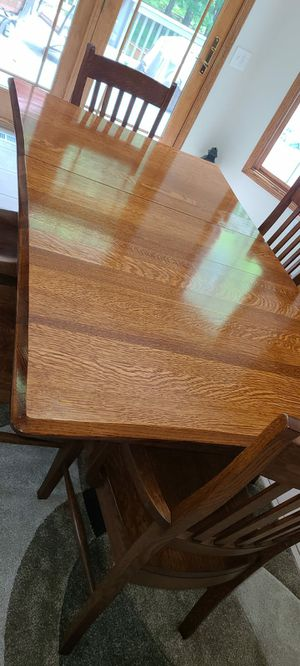 Amish kitchen table with 6 chairs for Sale in Strongsville, OH