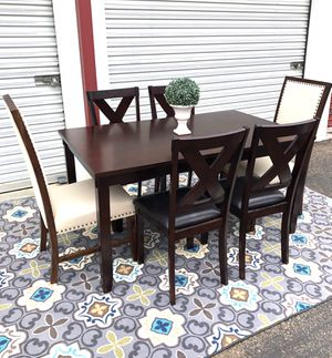 Brand new Cherry wood dining table set 6 chairs for Sale in San Diego, CA
