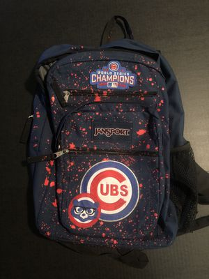 2016 MLB Cubs World Series Champions Jansport Backpack USED for Sale in Alvin, TX