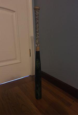 Louisville slugger baseball bat wood size 30 with lizard skin for Sale in Belmont, CA