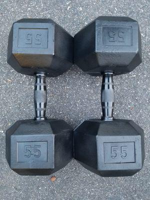Urethane Dumbbells-55lbs for Sale in Richmond, VA