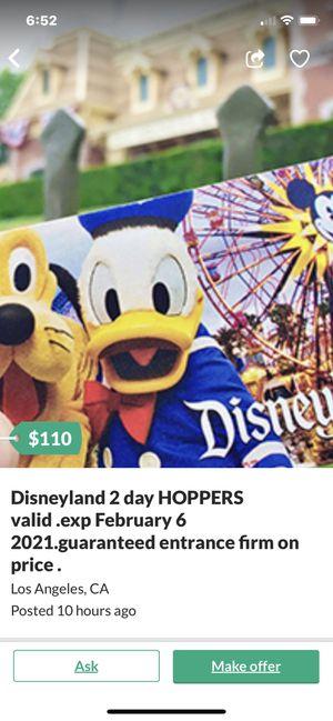 Disneyland hopper tickets. for Sale in Henderson, NV