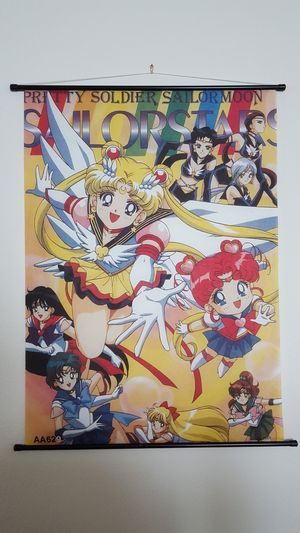 Sailor Moon wall scroll. Anime Japan 1990's Retro Poster for Sale in Fort Worth, TX