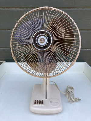 "Vintage SANYO Electric Fan 3 Speed 21"" T by 14"" W Great Conditions, Look 👀 Pictures for details $40.00 for Sale in Azusa, CA"