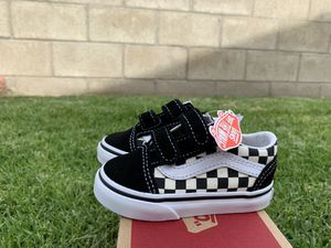 Vans old skool V Black white checkers new in box size 5 toddlers $40 pick up for Sale in Westminster, CA
