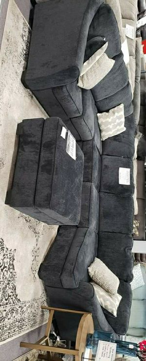 Eltman Slate RAF Sectional / Couch Living Room & Same day delivery / Fınancing Options for Sale in Houston, TX