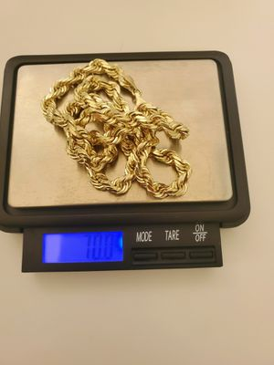 14k real solid gold rope chain ( 70-grams ) for Sale in San Bernardino, CA