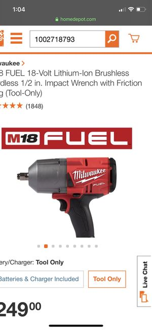 Milwaukee M18 FUEL 18-Volt Lithium-Ion Brushless Cordless 1/2 in. Impact Wrench with Friction Ring (Tool-Only) for Sale in Alhambra, CA