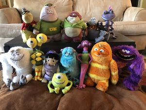Monsters Inc./University stuffed animal collection for Sale in Coral Springs, FL