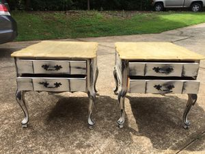 Refinished distressed 2 end tables for Sale in Mooresville, NC
