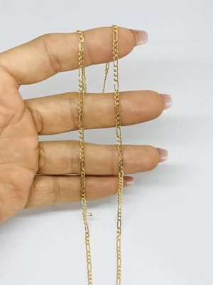 "Real 10k Gold Figaro Chain Figaro Yellow Gold Hollow Necklace 18"" 2mm New for Sale in Houston, TX"
